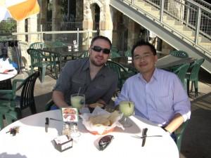 Having a Margarita with Mike Dillard in Austin, TX