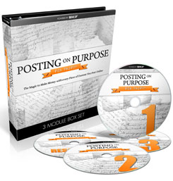 Posting On Purpose For profit