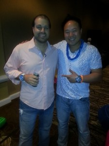 My business partner Andy Huang with Matt Trainer. Andy's agency has managed over $10 million in PPC and banner ad budget since 2008. He's a smart, funny and down-to-earth dude :)